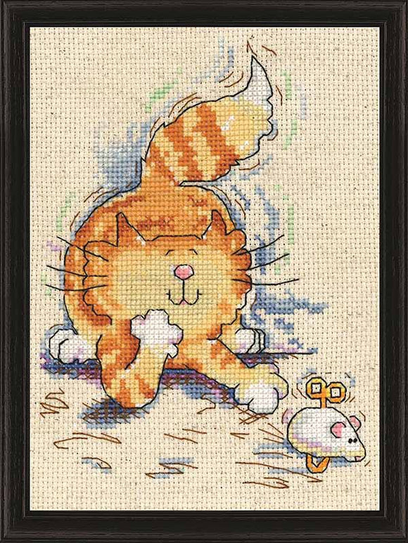 Cat and Mouse Cross Stitch Kit by Design Works