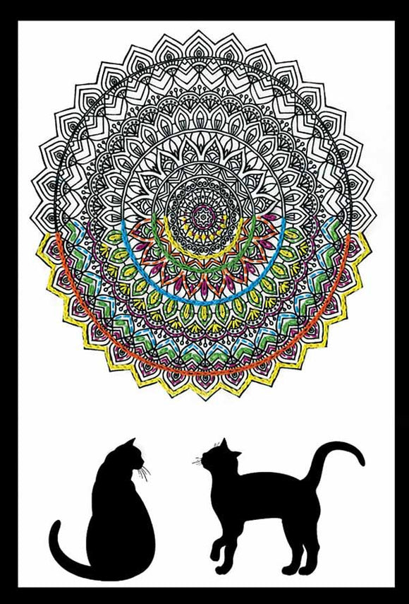 Cat Mandala Zenbroidery by Design Works