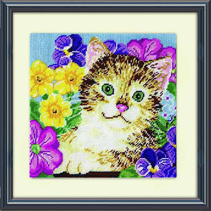 Cat in Flowers Tapestry Kit by Design Works