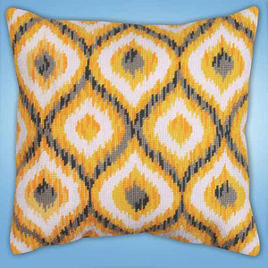 Yellow Ikat Tapestry Cushion Kit by Design Works