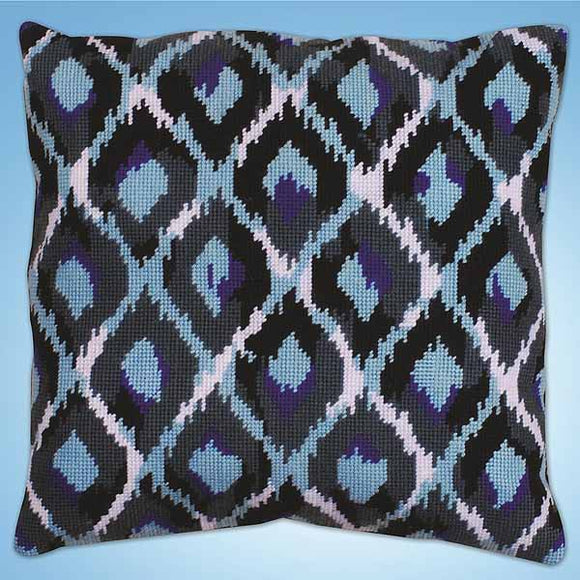 Blue Ikat Tapestry Cushion Kit by Design Works