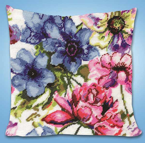 Watercolour Floral Tapestry Cushion Kit by Design Works