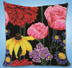Midnight Floral Tapestry Cushion Kit by Design Works