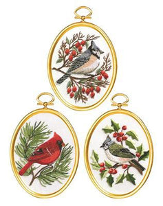 Winter Birds Embroidery Kit by Janlynn