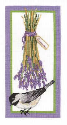 Floral Chickadee Cross Stitch Kit by Janlynn