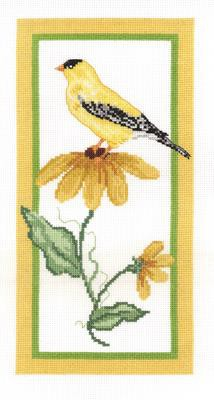 Floral Goldfinch Cross Stitch Kit by Janlynn