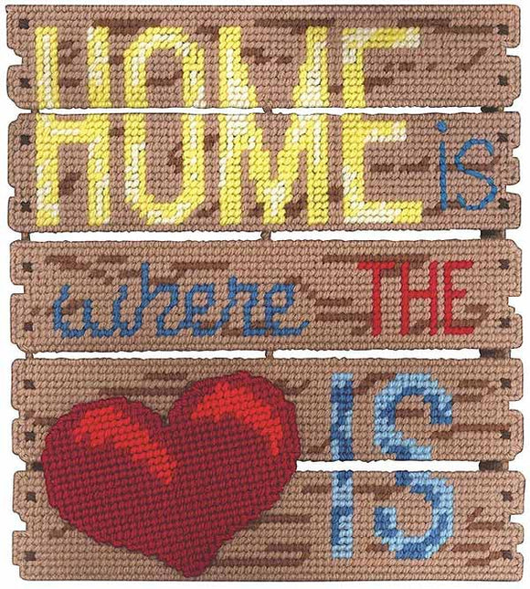 Home is Where the Heart is Plastic Canvas Kit by Janlynn