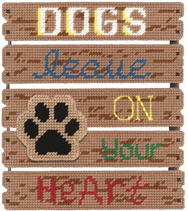 Dogs Leave Paw Prints Plastic Canvas Kit by Janlynn