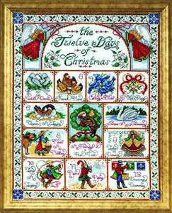 12 Days Of Christmas Cross Stitch Kit by Design Works