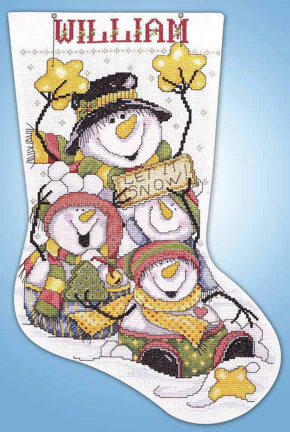 Let it Snow Christmas Stocking Cross Stitch Kit by Design Works