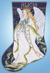Holly Angel Christmas Stocking Cross Stitch Kit by Design Works