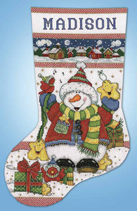 Snowman Fun Christmas Stocking Cross Stitch Kit by Design Works