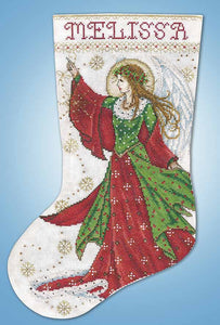 Angel of Joy Christmas Stocking Cross Stitch Kit by Design Works