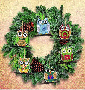 Owl Ornaments Cross Stitch Kit by Janlynn