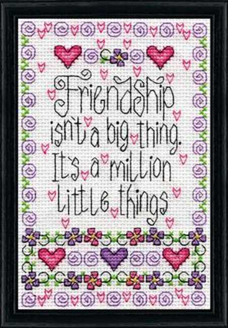 Friendship Cross Stitch Kit by Design Works