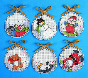 Bubbles Ornaments Cross Stitch Kit by Design Works