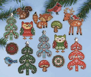 Woodland Ornaments Cross Stitch Kit by Design Works