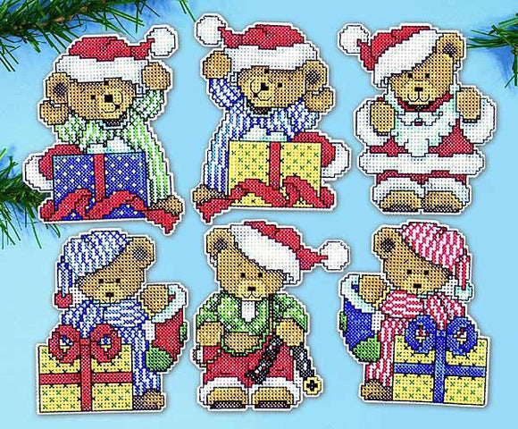 Little Christmas Bears Ornaments Cross Stitch Kit by Design Works