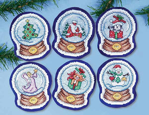 Snow Globes Ornaments Cross Stitch Kit by Design Works