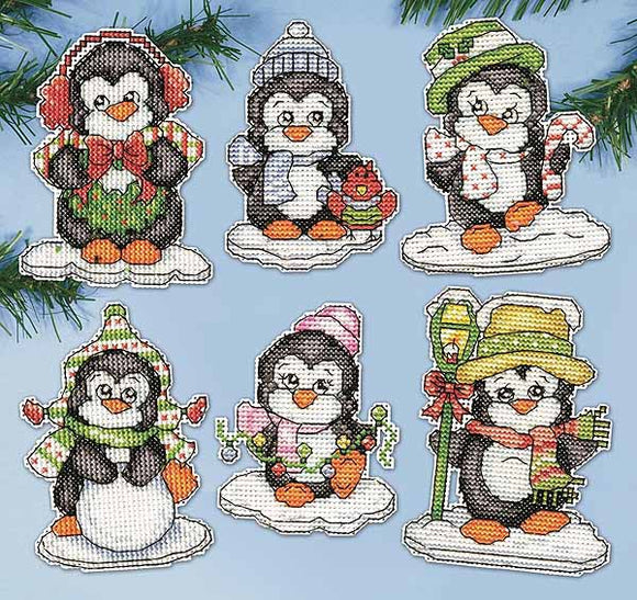 Penguins Ornaments Cross Stitch Kit by Design Works