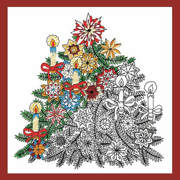 Christmas Tree Zenbroidery by Design Works