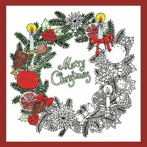 Christmas Wreath Zenbroidery by Design Works
