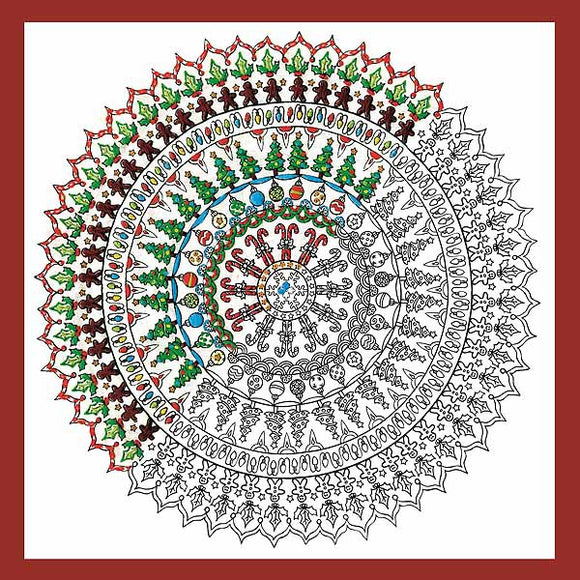 Christmas Mandala Zenbroidery by Design Works