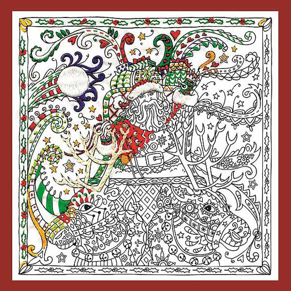 Santas Sleigh Zenbroidery by Design Works