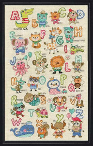 Cute Animals ABC Cross Stitch Kit by Design Works
