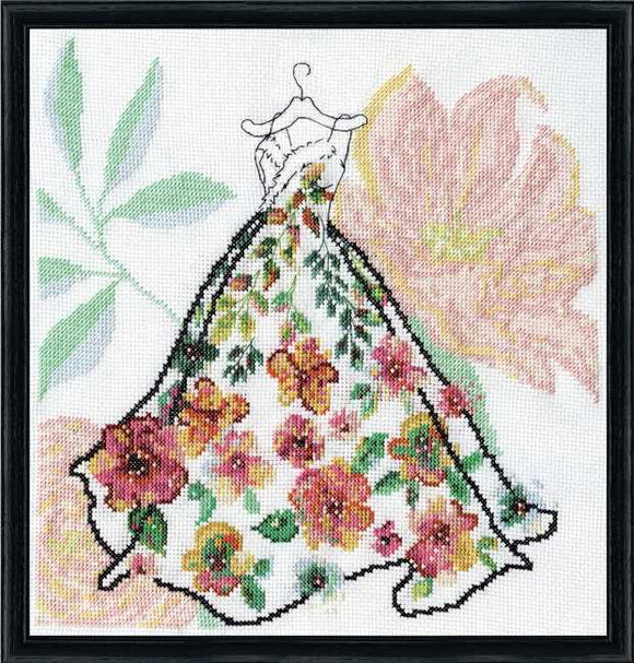 Ball Gown Cross Stitch Kit by Design Works