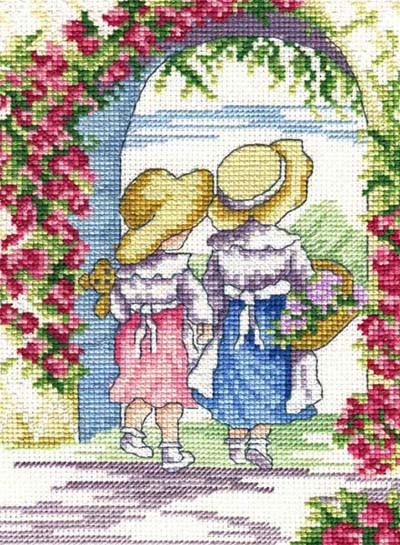 English Roses All Our Yesterdays Cross Stitch Kit by Faye Whittaker
