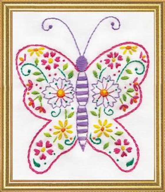 Butterfly Embroidery Kit by Design Works