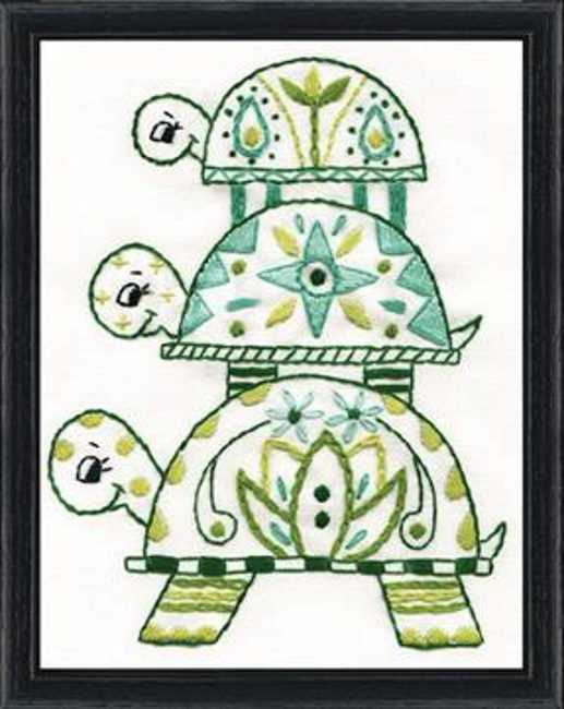 Turtle Pile Embroidery Kit by Design Works