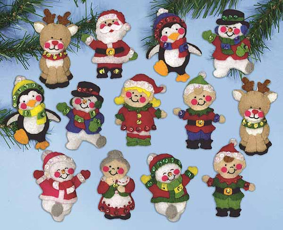 Christmas Friends Felt Applique Kit by Design Works