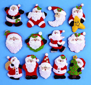 Lots of Santas Felt Applique Kit by Design Works