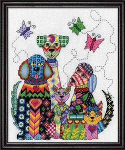Patchwork Dogs Cross Stitch Kit by Design Works