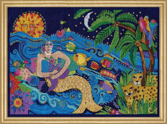 Mermaid Cross Stitch Kit by Design Works