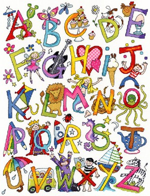 Alphabet Fun Cross Stitch Kit By Bothy Threads