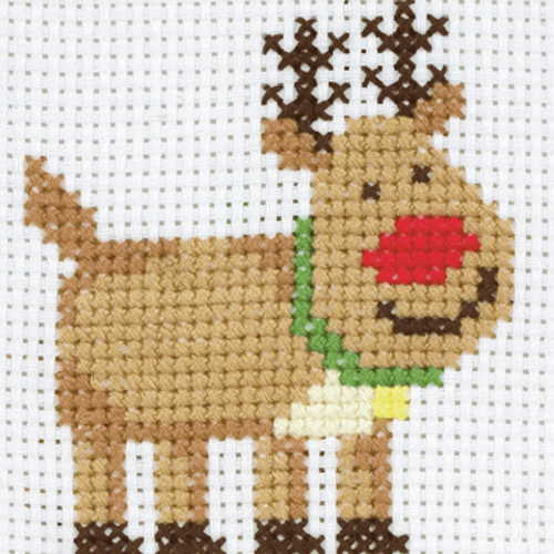 Rudolph First Cross Stitch Kit By Anchor