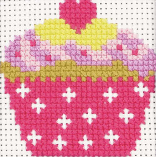 Cupcake First Cross Stitch Kit By Anchor