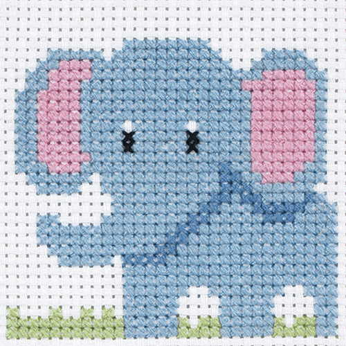 Elephant First Cross Stitch Kit By Anchor