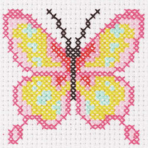 Butterfly First Cross Stitch Kit By Anchor
