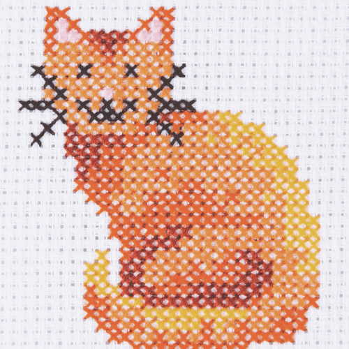 Cat First Cross Stitch Kit By Anchor