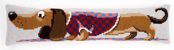 Dachshund Cross Stitch Draught Excluder Cushion Kit By Vervaco