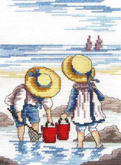 Rock Pooling All Our Yesterdays Cross Stitch Kit by Faye Whittaker