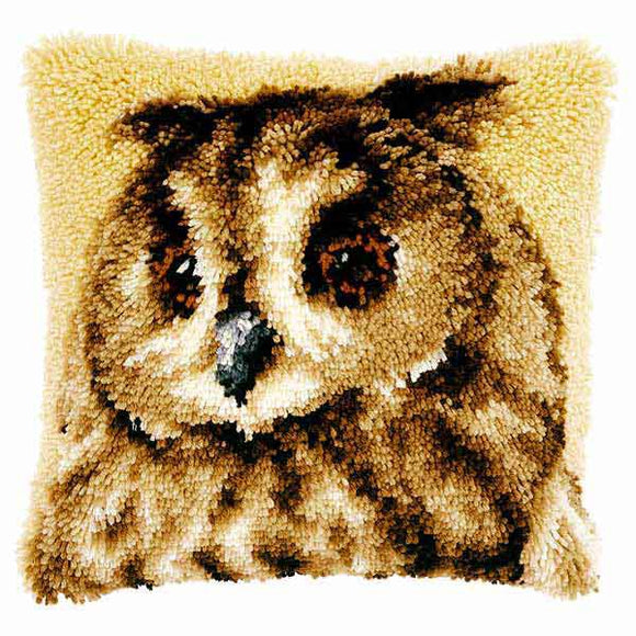 Brown Owl Latch Hook Cushion Kit By Vervaco