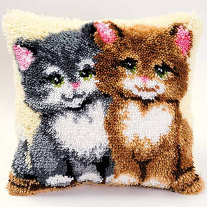 Kittens Latch Hook Cushion Kit By Vervaco