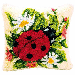 Ladybird Latch Hook Cushion Kit By Vervaco