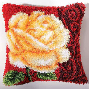 Rose Latch Hook Cushion Kit By Vervaco