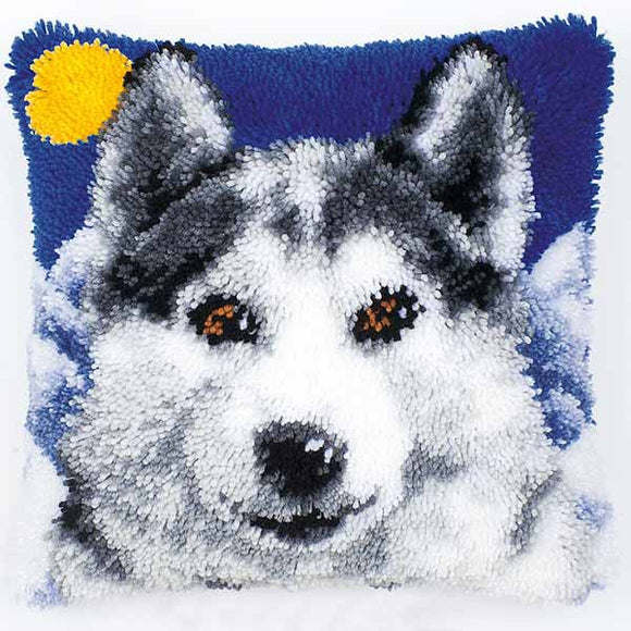 Wolf Latch Hook Cushion Kit By Vervaco